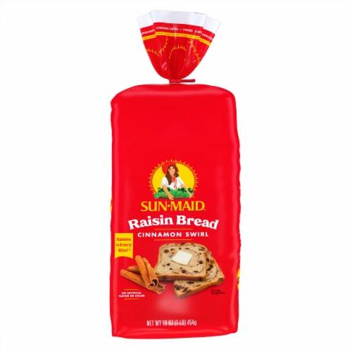 Sun-Maid Cinnamon Swirl Raisin Bread Perspective: front