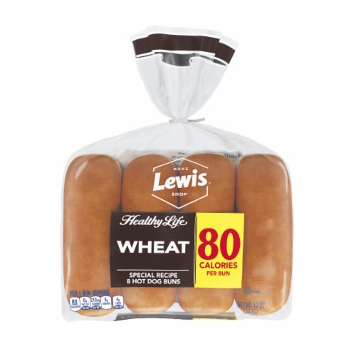 Healthy Life® Wheat Hot Dog Buns Perspective: front
