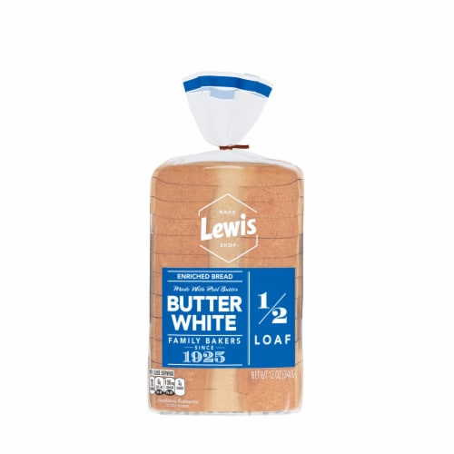 Lewis Bake Shop Half Loaf Butter White Bread Perspective: front