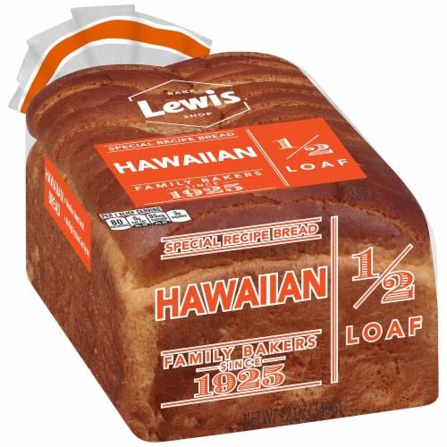 Lewis Bake Shop Half Loaf Hawaiian Bread Perspective: front