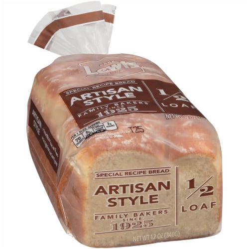 Lewis Bake Shop Artisan Style 1/2 Loaf Special Recipe Bread Perspective: front