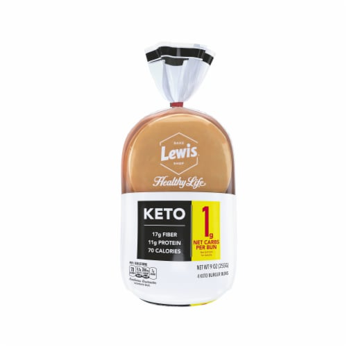 Lewis Bake Shop Healthy Life Keto Buns Perspective: front