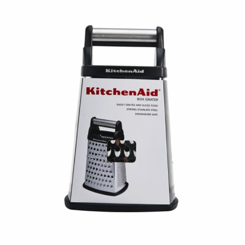 KitchenAid Gourmet Box Grater - Onyx Black/Silver Perspective: front