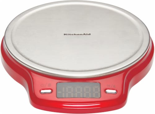 KitchenAid Stainless Steel Digital Scale - Red Perspective: front