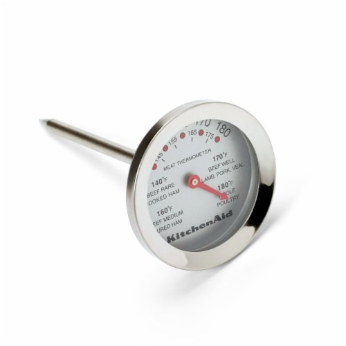 KitchenAid Stainless Steel Gourmet Thermometer - Silver Perspective: front