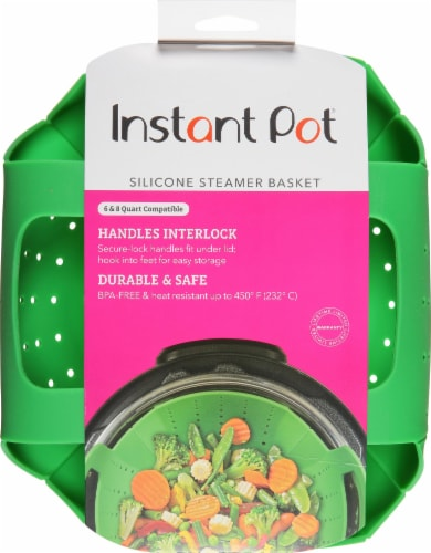 Instant Pot® Silicone Steamer Basket - Green Perspective: front