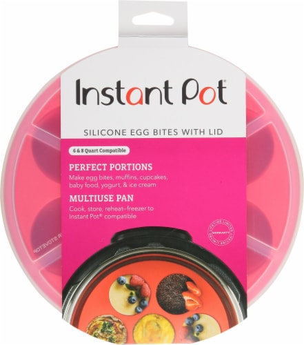 Instant Pot® Silicone Egg Bite Mold - Pink Perspective: front