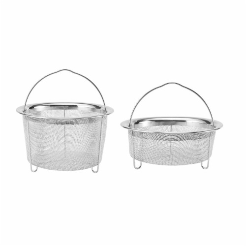 Instant Pot Mesh Steam Basket Set - Silver Perspective: front