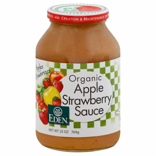 Eden Organic Apple Strawberry Sauce Perspective: front
