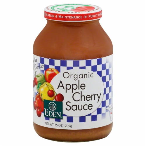 Eden Organic Apple Cherry Sauce Perspective: front
