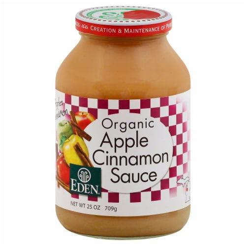 Eden Organic Apple Cinnamon Sauce Perspective: front