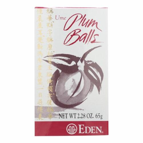 Eden Foods Ume Plum Balls - 2.28 oz - Pack of 3 Perspective: front