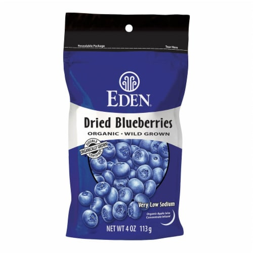 Eden Organic Dried Blueberries Perspective: front