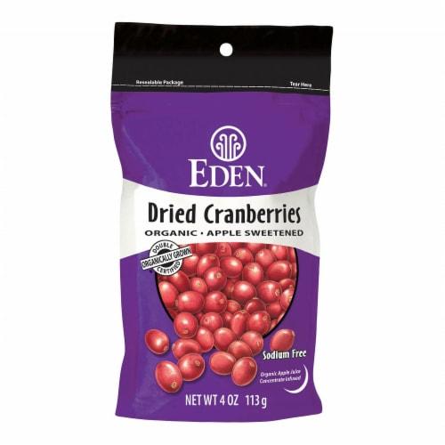 Eden Organic Dried Cranberries Perspective: front