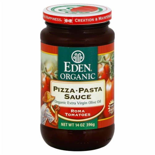 Eden Organic Pizza Pasta Sauce Perspective: front
