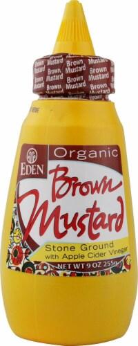 Eden Foods  Organic Brown Mustard with Apple Cider Vinegar Perspective: front