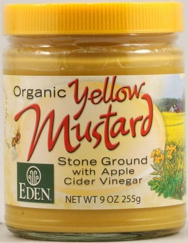 Eden Foods  Organic Yellow Mustard Jar Perspective: front