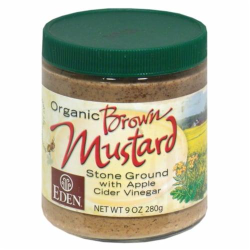 Eden Foods Organic Brown Stone Ground Mustard with Apple Cider Vinegar Perspective: front