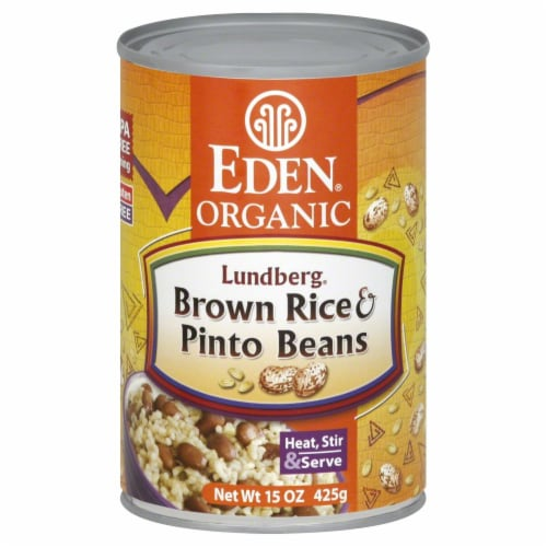 Eden Organic Brown Rice & Pinto Beans Perspective: front