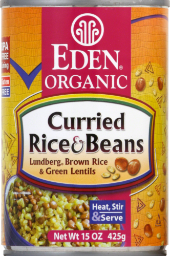 Eden Organic Curried Rice & Beans Perspective: front
