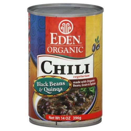 Eden Organic Black Beans & Quinoa Chili Perspective: front