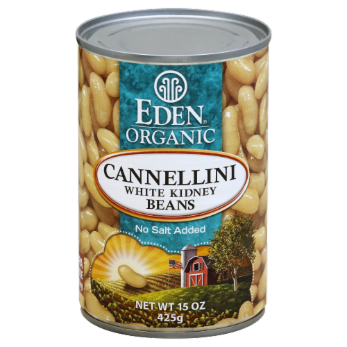 Eden Organic Cannellini White Kidney Beans Perspective: front