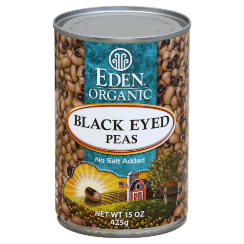 Eden Organic Black Eyed Peas Perspective: front