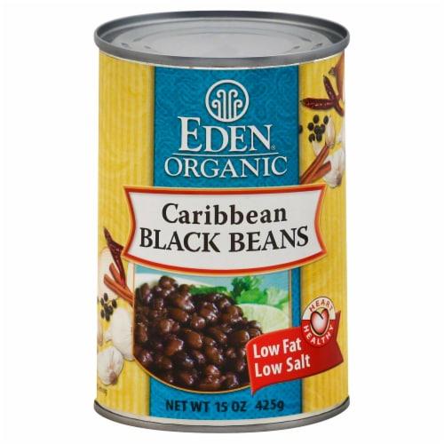 Eden Organic Caribbean Black Beans Perspective: front