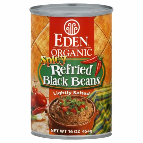 Eden Organic Spicy Refried Black Beans Perspective: front
