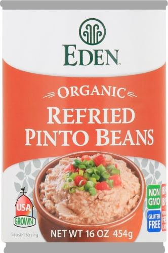 Eden Organic Refried Pinto Beans Perspective: front