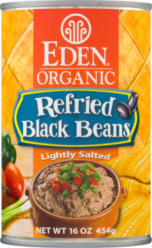 Eden Organic Refried Black Beans Perspective: front