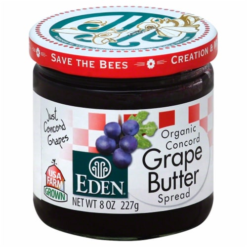 Eden Organic Concord Grape Butter Spread Perspective: front