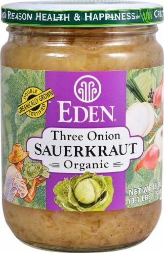 Eden Three Onion Sauerkraut Perspective: front