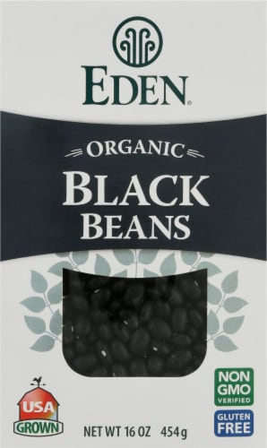 Eden Organic Dry Black Beans Perspective: front