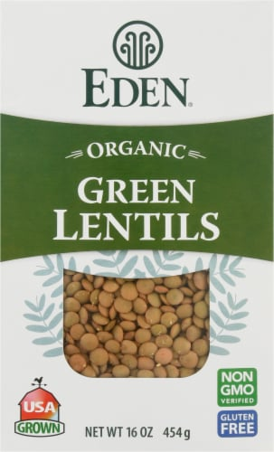 Eden Organic Green Lentils Perspective: front