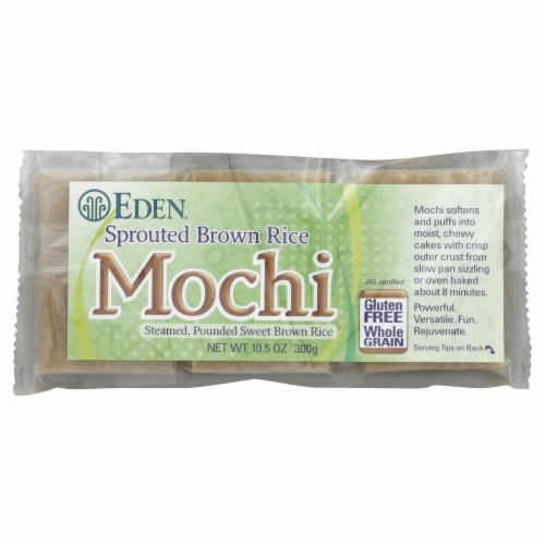 Eden Sprouted Brown Mochi Rice Perspective: front