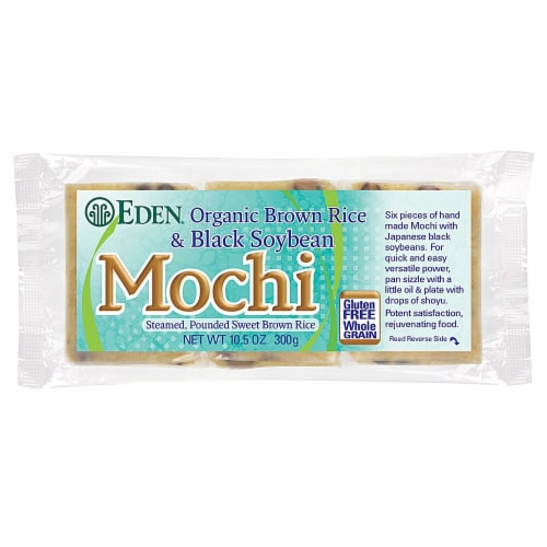 Eden Organic Brown Mochi Rice Perspective: front