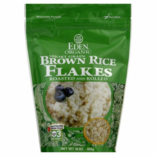 Eden Foods Organic Brown Rice Flakes Perspective: front