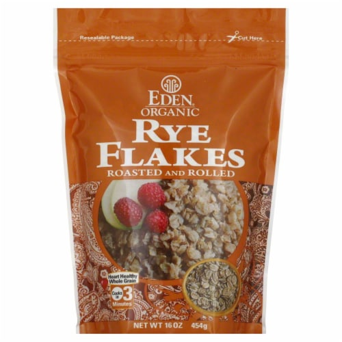 Eden Organic Rye Flakes Perspective: front