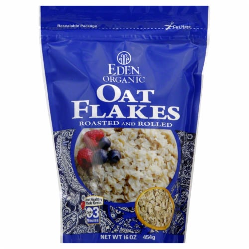 Eden Organic Oat Flakes Perspective: front