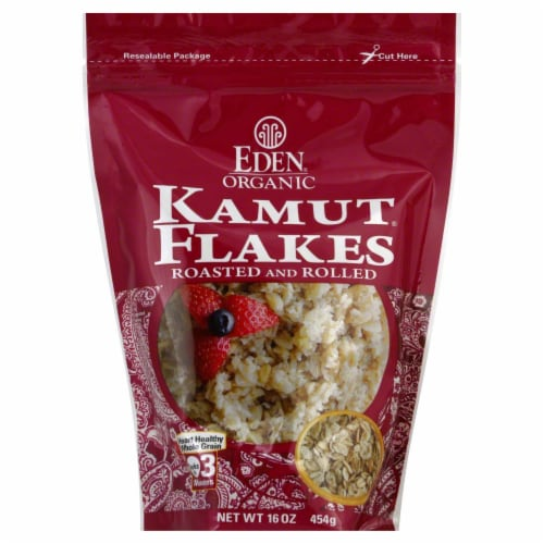 Eden Organic Kamut Flakes Perspective: front