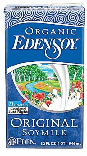 Eden Foods  Organic EdenSoy® Soymilk Dairy Free   Original Perspective: front