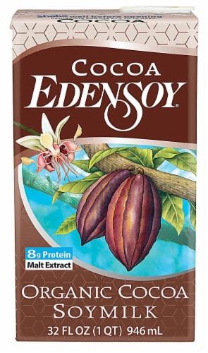 Eden Foods  Organic Edensoy Soymilk   Cocoa Perspective: front