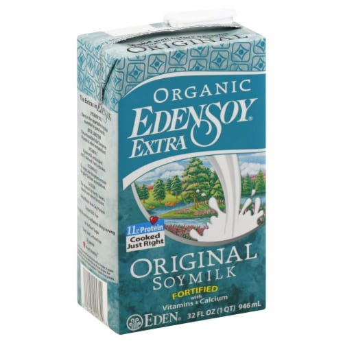 Eden Soy Extra Organic Soymilk Original Perspective: front