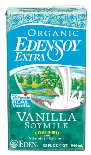 Eden Foods  Organic EdenSoy® Extra Soy Milk   Vanilla Perspective: front