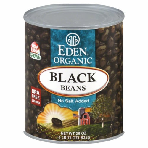Eden Organic Black Beans Perspective: front