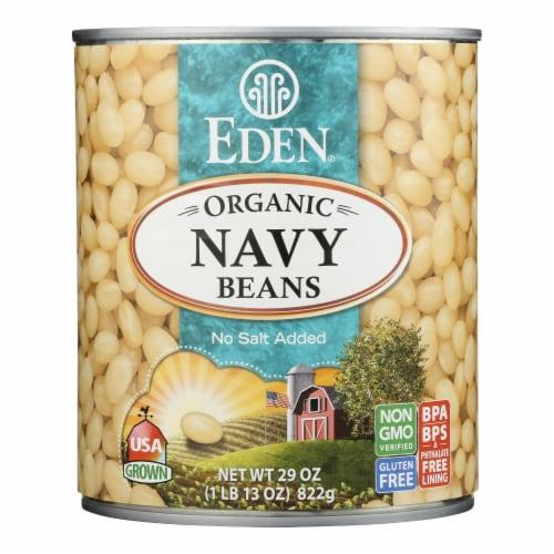 Eden Organic Navy Beans Perspective: front