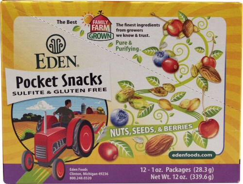 Eden Foods  Organic Pocket Snacks   Wild Berry Mix Perspective: front