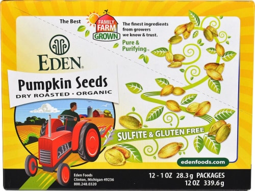 Eden Foods  Pocket Snacks™ Organic Pumpkin Seeds Dry Roasted Perspective: front
