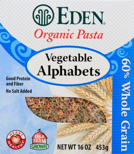 Eden Organic Vegetable Alphabets Pasta Perspective: front